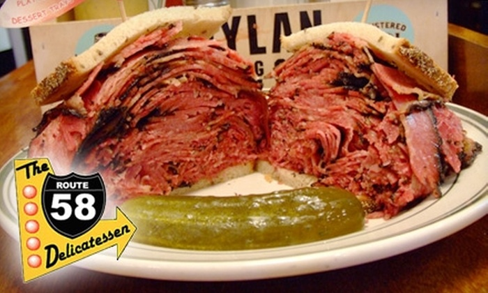The Route 58 Delicatessen - North Central: $7 for $15 Worth of Deli Fare at The Route 58 Delicatessen