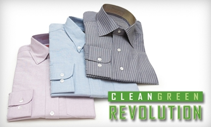 Clean Green Revolution - Multiple Locations: $16 for $40 Worth of Eco-Friendly Dry-Cleaning Services at Clean Green Revolution