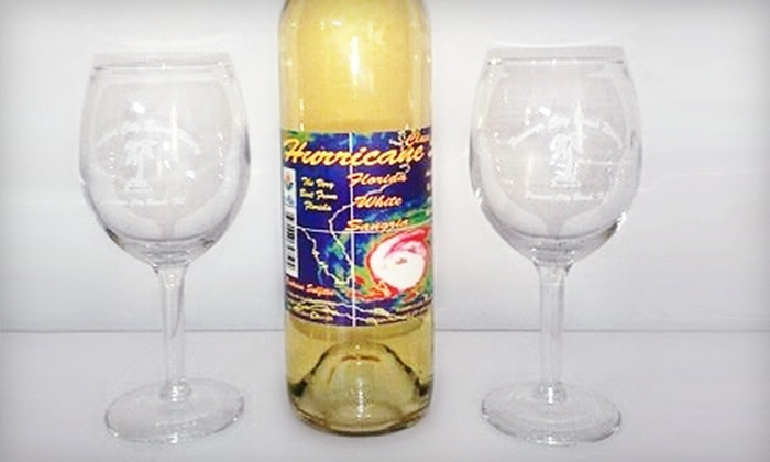 Panama City Beach Winery - Lower Grand Lagoon: $17 for Two Wine Tastings and Souvenir Glasses Plus a Bottle of White Sangria from Panama City Beach Winery ($34.05 Value)