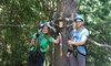 Muskoka Zip Lines & Aerial Park - Rural Severn: Aerial Course and Sportsland Tickets at Muskoka Zip Lines & Aerial Park (Up to 40% Off). Four Options Available.