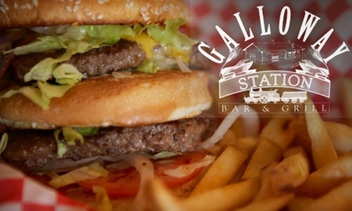 Galloway Station - Springfield: $10 for $20 Worth of Pub Fare at Galloway Station