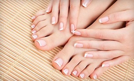 Charmed Salon and Spa: 1 Paraffin Manicure and 1 Therapeutic Pedicure - Charmed Salon and Spa in Miller Place