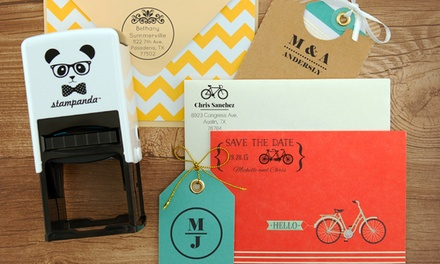 One or Two Personalized Self-Inking Stamps from Stampanda (Up to 54% Off). Shipping Included.