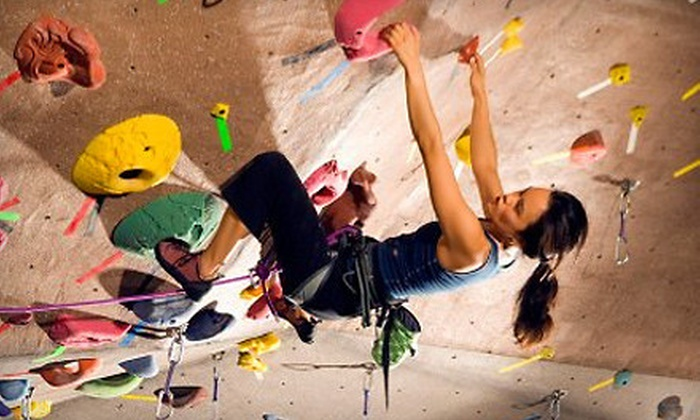 Triangle Rock Club - Morrisville: Intro to Climbing Class and Two Weeks at Triangle Rock Club for One or Two People in Morrisville (Up to 64% Off)