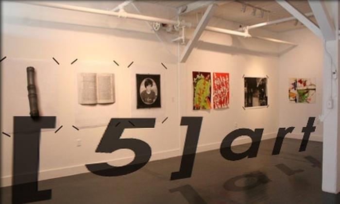 Gallery [5]art - Northeast MacFarlane: $25 for an Individual Gallery Membership at Gallery [5]art ($50 Value)