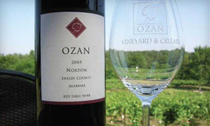 Ozan Vineyard & Cellars - Birmingham: $19 for a Wine-Tasting Experience for Two at Ozan Vineyard & Cellars in Calera ($43 Value)