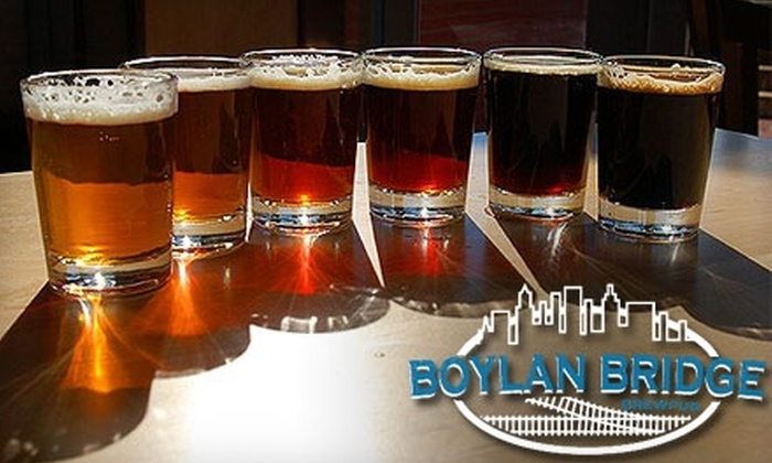 Boylan Bridge Brewpub - University: $10 for a Brewery Tour for Two, Plus Two Logo Pint Glasses, at Boylan Bridge Brewpub ($25 Value)