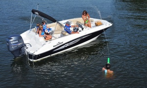 Lotto Boat: Two- or Four-Hour Deck Boat Rental from Lotto Boat (Up to 65% Off)