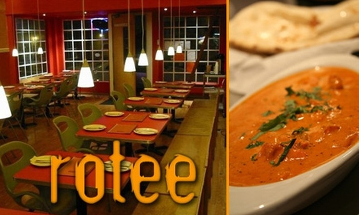Rotee - Hayes Valley: $15 for $30 Worth of Fresh Indian and Pakistani Fare at Rotee