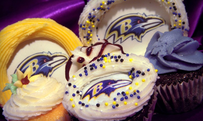 Charm City Cupcakes - Multiple Locations: One Dozen Ravens Cupcakes or Admission to the Ravens Cupcake Decorating Kick-Off from Charm City Cupcakes
