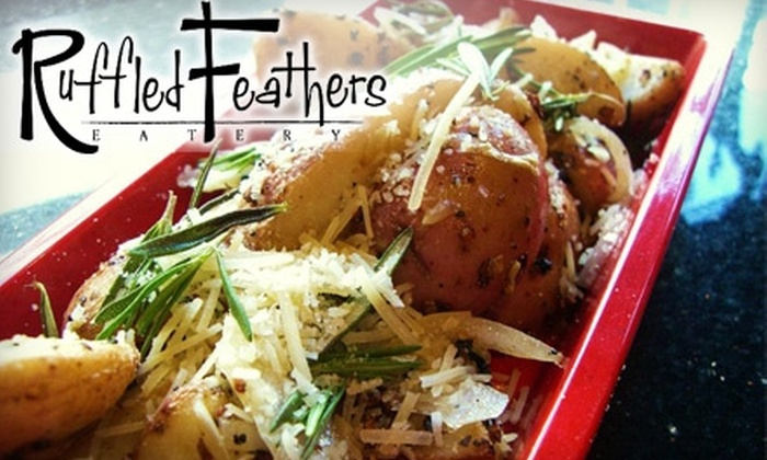 Ruffled Feathers Eatery - Downtown San Jose: $10 for $20 Worth of Pitas, Pastas, Salads, and More at Ruffled Feathers Eatery