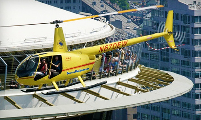 SeattleHeliTours.com by Classic Helicopter Corp - Georgetown: $135 for a Helicopter Tour for Three from SeattleHeliTours.com by Classic Helicopter Corp ($272.50 Value)