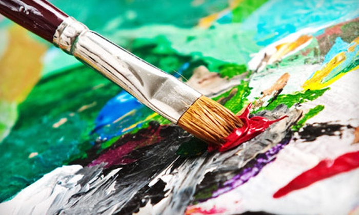 The Drunk Artist - Old Town Spring: Three-Hour BYOB Painting Class for One, Two, or Four at The Drunk Artist (Up to 58% Off)