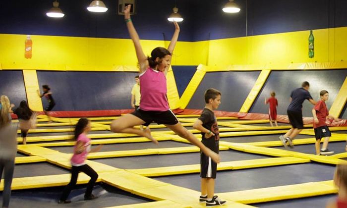Sky High Sports  - Concord: Two Hours of Trampoline Jump Time at Sky High Sports (Up to 50% Off)