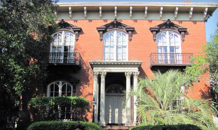 The Savannah Walks - Downtown Savannah: Historic Homes or Gates and Gardens Walking Tour for Two from The Savannah Walks (52% Off)