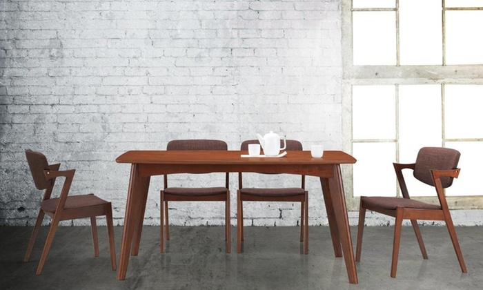 Mid Century Modern Dining Sets. Century Modern Dining Sets Midcentury Brown  Wood 5piece