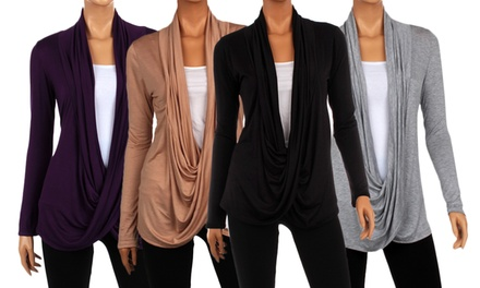 Draped Criss-Cross Cardigan