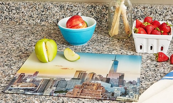 """Collage.com: $9.99 for One 8"""" x 12"""" Personalized Cutting Board from Collage.com ($49.99 Value)"""