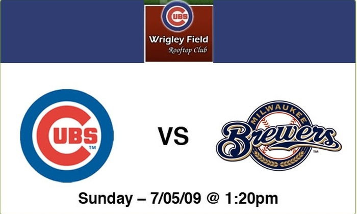 Wrigley Field Rooftop Club  - Lakeview: $89 Rooftop Tickets—Cubs vs Brewers, 7/5/09, 1:20 p.m.