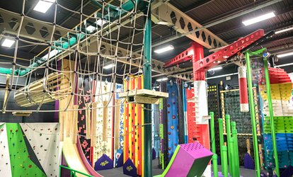 Clip and Climb Experience with Leap of Faith or Vertical Drop Slide for Up to Four at Sky High Adventure (Up to 38% Off)