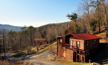 groupon daily deal - 2- or 3-Night Stay in the Blue Spruce, Cedar Cove, or Bear Lodge Cabin at Tuckaleechee Retreat Center in Townsend, TN