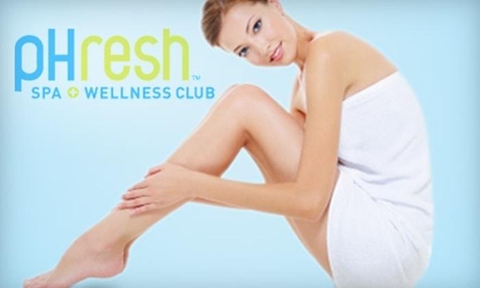 pHresh Spa + Wellness Club - West End: Laser Hair Removal at pHresh Spa + Wellness Club. Two Options Available.