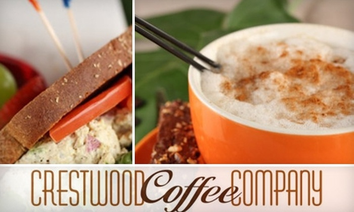 Crestwood Coffee Company - Crestwood North: $5 for $10 Worth of Barista Beverages and Café Bites at Crestwood Coffee Company