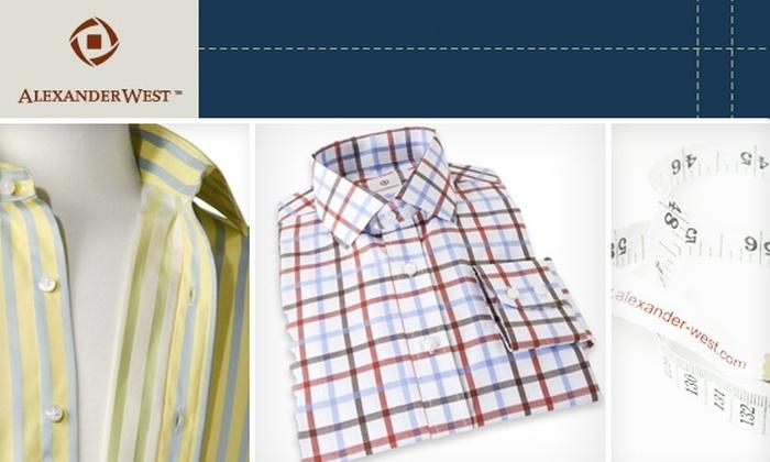 Alexander West - SoHo: $50 for $110 Toward Men's Custom Shirts at Alexander West