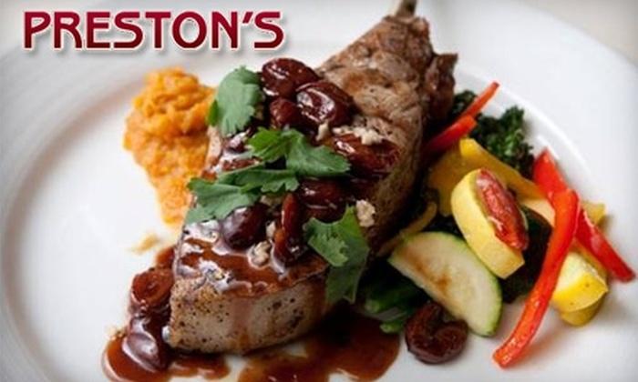 Preston's - Dallas: $15 for $35 Worth of Upscale Cuisine at Preston's