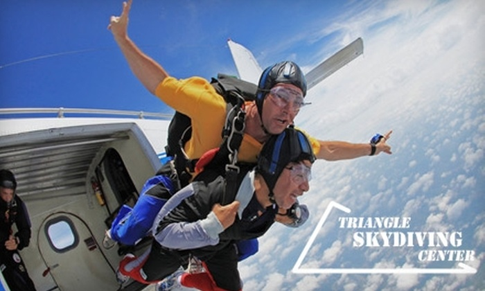 Triangle Skydiving Center - Harris: $145 for a Tandem Jump from Triangle Skydiving Center (Up to $225 Value)