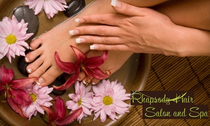 Rhapsody Hair Salon and Spa - McDonough: $65 for a Mani-Pedi Package at Rhapsody Hair Salon and Spa in McDonough (Up to $130 Value). Choose Between Two Options.