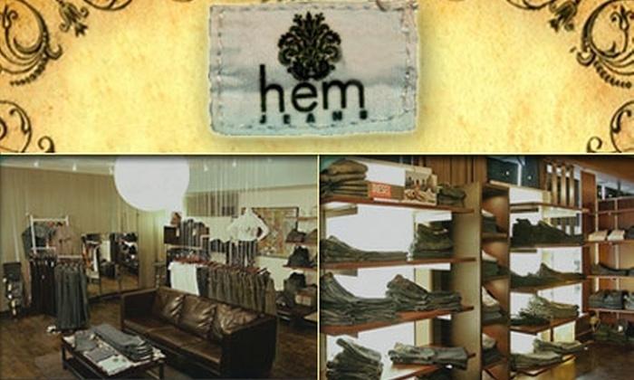 Hem Jeans - Downtown: $50 for $100 Worth of Designer Denim at Hem Jeans
