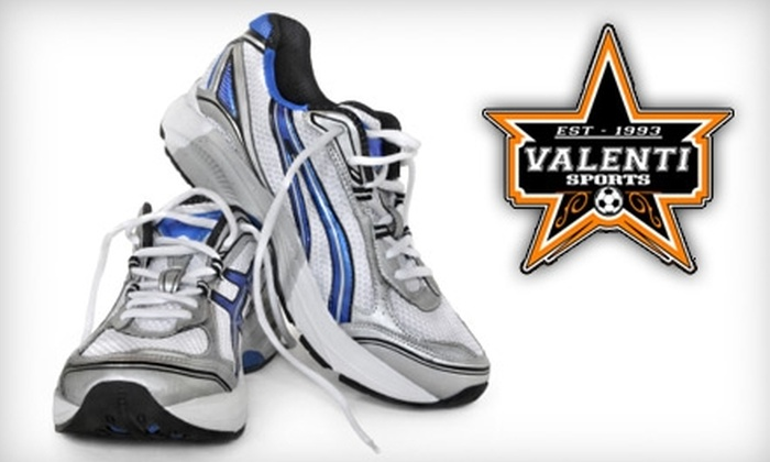Valenti Sports - Multiple Locations: $20 for $50 Worth of Footwear and Apparel at Valenti Sports