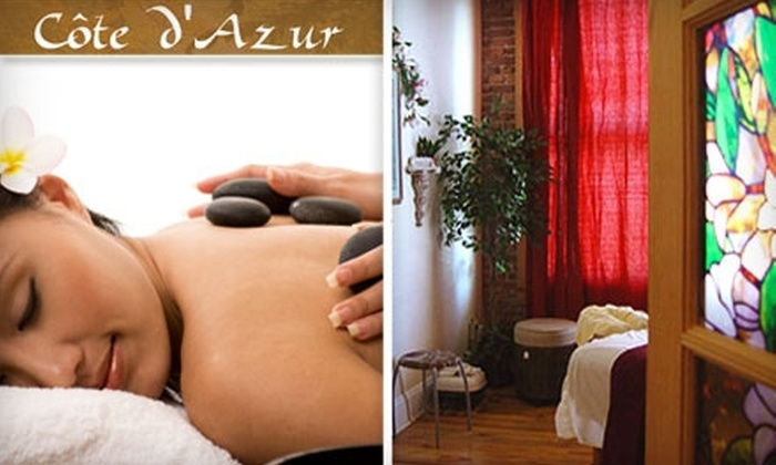 Cote d'Azur - Old Pasadena: $199 for Couples Indigo Massage and Body Scrub ($410 Value) or $95 for a Deluxe Dr Hauschka Facial ($195 Value) at Cote d'Azur