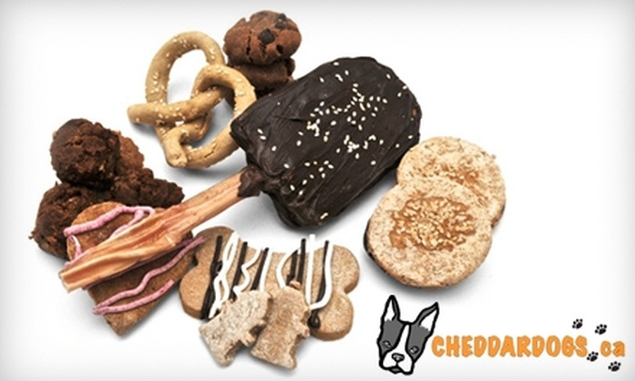 Cheddar Dogs: $7 for $15 Worth of Canine Treats from Cheddar Dogs