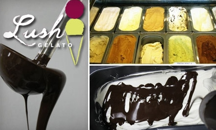 Lush Gelato - Multiple Locations: $4 for $8 Worth of Gelato at Lush Gelato