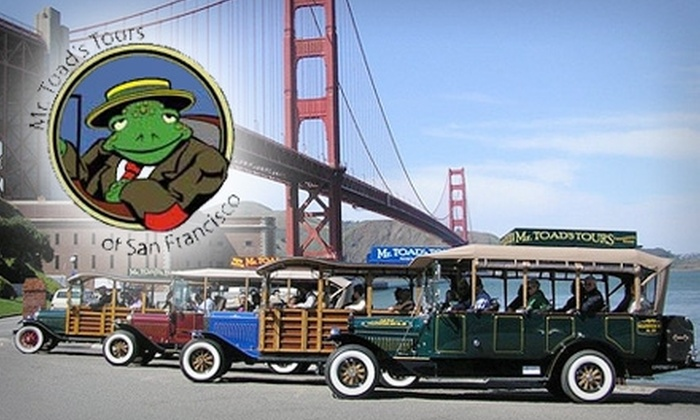 Mr. Toad's Tours - Fisherman's Wharf: $20 for the San Francisco by Night or Holiday Lights Tour from Mr. Toad's Tours ($40 Value)