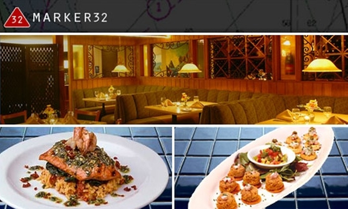 Marker 32 - Holiday Harbors: $20 for $40 Worth of Fresh Seafood at Marker 32