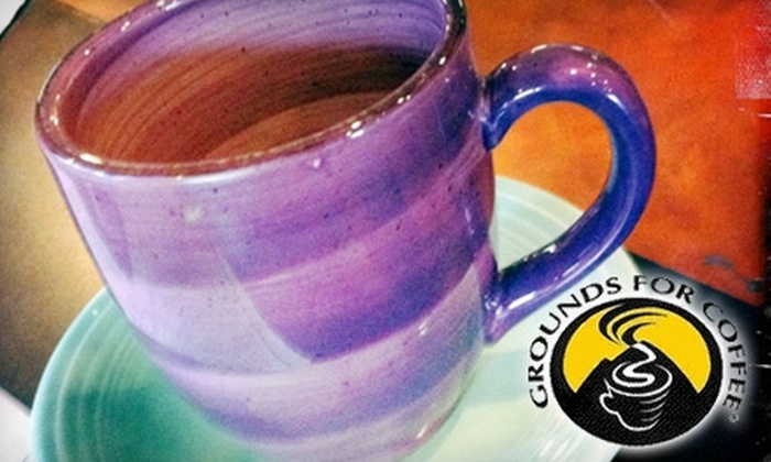 Grounds For Coffee - Ogden: $3 for $6 Worth of Coffee and Treats at Grounds for Coffee, Choose between Two Locations