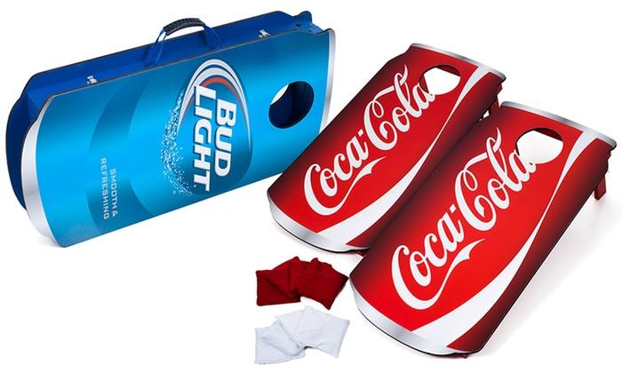 Beverage-Themed Cornhole Bean Bag Toss Game Set (10-Piece)