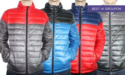 Men's Ultra Light Two-Tone Puffer Jacket