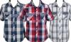 Boys' Western Plaid Short Sleeve Shirts: Boys' Western Plaid Short Sleeve Shirts