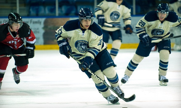 Langley Rivermen - LANGLEY EVENTS CENTRE: Two Tickets or Family Package to a Langley Rivermen Hockey Game at the Langley Events Centre. Three Options Available.