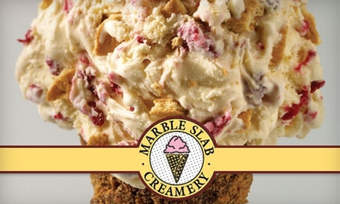 Marble Slab Creamery - Multiple Locations: $5 for Two Original Ice Creams and One Mixin Each at Marble Slab Creamery ($10 Value). Choose from 11 Locations.
