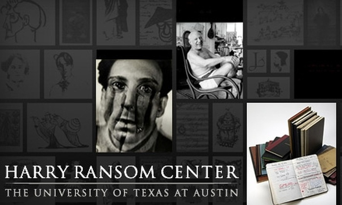 Harry Ransom Center - University of Texas - Austin: $25 for an Individual Membership to the Harry Ransom Center ($50 Value). Purchase Two Groupons for a Dual Membership ($90 Value)