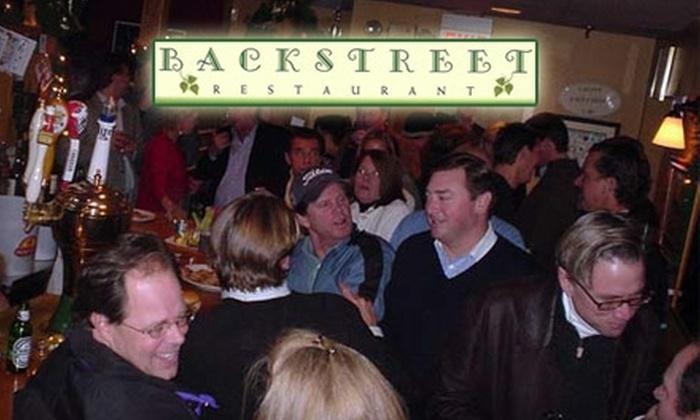 Backstreet Restaurant - Darien: Half Off Upscale American Lunch or Dinner at Backstreet Restaurant in Darien. Choose Between Two Options.