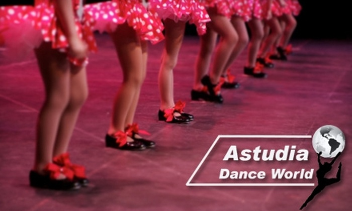 Astudia Dance World - Black Mountain: $49 for Eight Weeks of Dance or Music Classes, Plus Annual Registration Fee at Astudia Dance World ($128 Value)