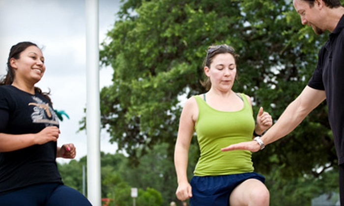 Fitness 4 Mind and Body - Multiple Locations: Eight Boot-Camp Classes or One Month of Unlimited Boot-Camp Classes from Fitness 4 Mind and Body (Up to 82% Off).