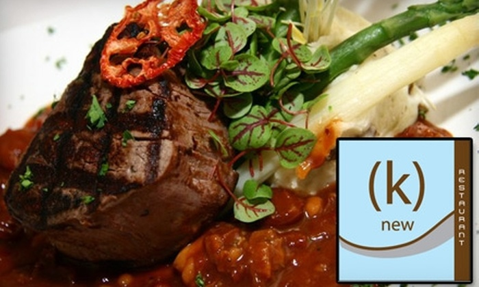 (k)new - Chicago: $12 for $25 Worth of Eclectic Cuisine at (k)new