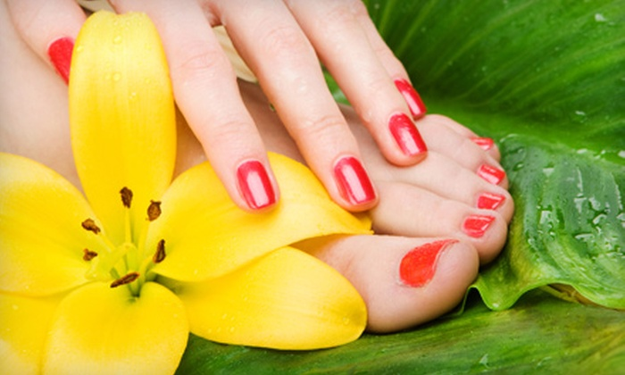 Faces Salon - New York City: $25 for Mani-Pedi with Paraffin Treatment at Faces Salon in Brooklyn ($50 Value)